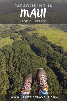 I had enough time to get panicky about paragliding in Maui, but not enough time to chicken out. So I did it, and then wanted to do it again. Visit Hawaii, Paragliding, Bean Boots, Hawaiian Islands, Maui, Hiking Boots, Chicken, Travel, Hawaian Islands