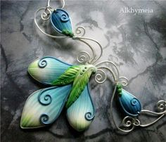 Sculpey and wire jewelry