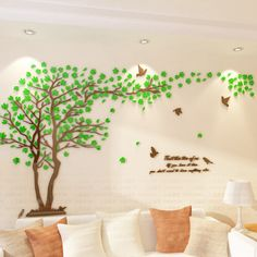 Cheap stickers home decor, Buy Quality wall stickers home decor directly from China wall sticker Suppliers: Lovers Tree Crystal Three-dimensional Wall Stickers Living Room Tv Sofa Wall Decoration DIY Wall Stickers Home Decor Diy Wand, Tree Wall Decor, Diy Wall Decor, Simple Wall Paintings, Metal Tree Wall Art, Wall Stickers Home Decor, Living Room Tv, Three Dimensional, Crystal