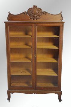 Antique Oak Two-door Bookcase – Original Finish