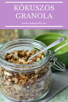 Csak a Puffin Granola, Cereal, Oatmeal, Seeds, Breakfast, Healthy, Food, Kitchen, The Oatmeal