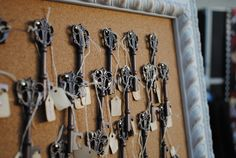 "Fabulous ""vintage"" keys that double as bottle openers for wedding favors"