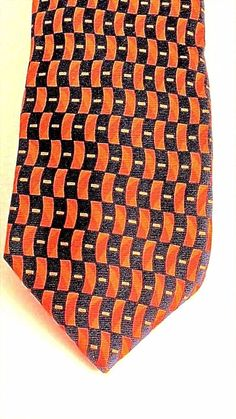 20f738955ab9 Stafford Executive Syracuse Orange Geometric Classic 100% Silk Mens Tie  italy #Stafford #NeckTie