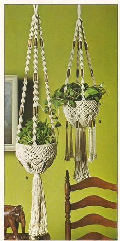 Enclosed Macrame Plant Hanger Pattern -Craft Book:# OPUS2 Fiber Form & Fantasy 2