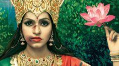 Golpeadas diosas indias