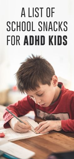 List of School Snacks for ADHD Kids Certain foods can help a child with ADHD focus and concentrate better, like foods high in fatty acids.Certain foods can help a child with ADHD focus and concentrate better, like foods high in fatty acids. Adhd Odd, Adhd And Autism, Autism Diet, Autism Help, Aspergers Autism, Attention Disorder, Adhd Signs, Adhd Help, Adhd Diet