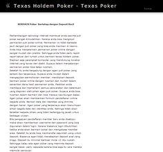 http://texaspoker.satupoker.com/ - texaspoker Make sure you check out our website. https://www.facebook.com/bestfiver/posts/1438250873054550