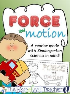 """Force and Motion - Push and Pull Emergent Reader - 9 pages  This reader was made to help keep your littles thinking about science way after the lesson has taken place! Use it to reinforce force and motion concepts, and then keep it with their other emergent readers so that they keep remembering that lesson over and over again.   Each pages follows a repetitive pattern: """"I can push/pull the..."""", along with a second sentence that tells what the object does as a result of the push/pull action."""