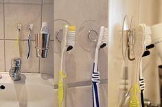 QuickTippTuesday: Statt Bohren –  eine alternative Befestigungsmöglichkeit im Bad - Zahnbürstenaufhängung by The Organized Cardigan