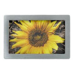 Sunflower Rectangular Belt Buckles
