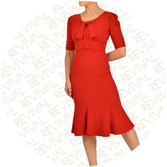 Rouge Stop Staring Dress Red