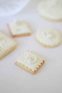 pretty white cookies