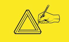 Como desenhar o triângulo impossível