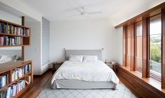 las ideas modernas habitaciones dormitorio de vida paredes blancas ventana de madera enmarca