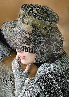 Современное коклюшечное кружево в одежде - Ярмарка Мастеров - ручная работа, handmade