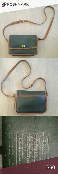 Coach Crossbody Leather Purse 9.5 across  6.5 tall  20 inches top of strap to top of purse  Strap has 5 holes for adjustment Coach Bags