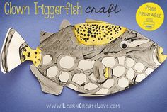 Clown Triggerfish Printable Craft | LearnCreateLove.com