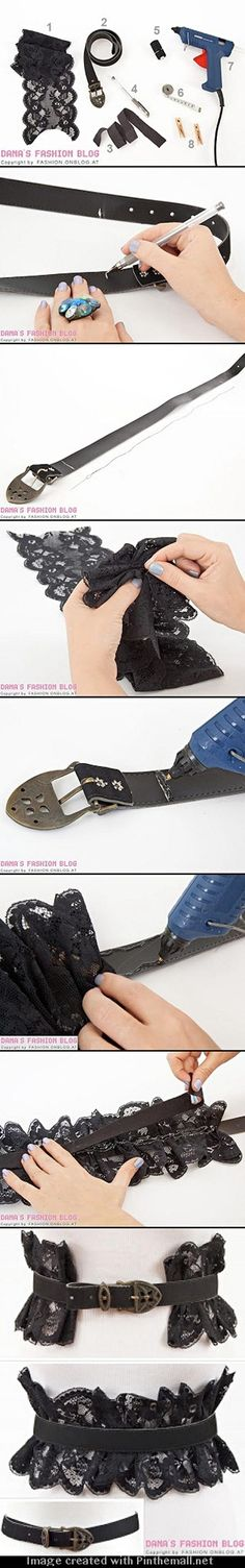 DIY belt with lace