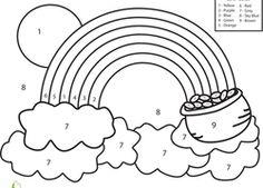 Printable Color the Rainbow Kindergarten Worksheet - Printable ...