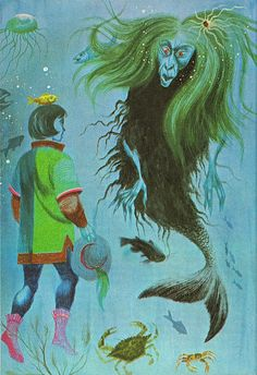 """illustration by Robert J. Lee from """"The Mermaid"""" / """"The Golden Magazine for boys and girls"""" March 1967"""