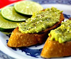 Jeanette's Healthy Living Healthy Snack Recipes for Kids – Food for the Brain – Part 3 Avocado and Edamame Spread on Toast from The Perfect Pantry
