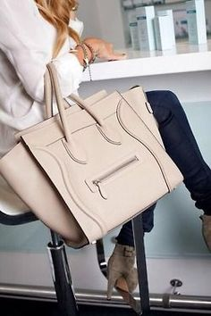 Céline Phantom in beige leather - a beautiful pre-owned designer bag sold at a great price from LovethatBag.ca