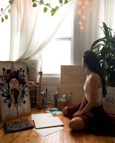 Painter Photography, Studio Portrait Photography, Artist Life, Artist Art, Artist Aesthetic, Artsy Photos, Painting Of Girl, Diy Canvas Art, Foto Pose