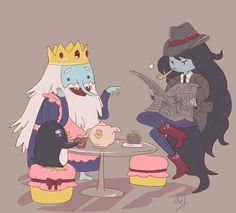 Cute! Adventure time Simon and marcy Ice King and Marceline