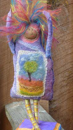 Frankie LeMonde-Meunier, felted tree dress