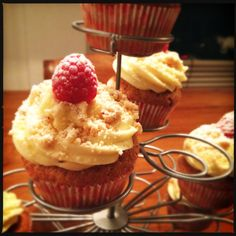 Raspberry Cheesecake Cupcakes    My little sister and I might want to open a cupcake shop in Amsterdam and these are the cupcakes we tried out for the shop... Let us know what you think.