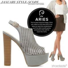 You've been working hard this month, Aries. Treat yourself to something pretty! #ShoeDazzle