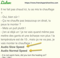 Vocabulary of winter in French. Learn French with Pascal Learn French Free, French Lessons, Languages, Vocabulary, Weather, Learning, School, Idioms, Studying