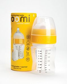 Heat baby's breast milk or formula anywhere, sans electricity, with Yoomi's self-warming