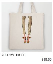 Yellow Shoes Tote $18