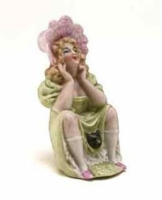 "1900s German Figural ""Naughty"" Perfume Bottle"