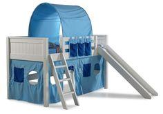 cama com escorregador, tenda, cabana