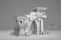 ArtStation - Ruins Asset System, Moritz Heinemeyer