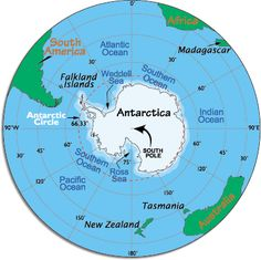 Antarctica. Mostly seas I've never heard of. Good to see it in relation to the countries near it. From worldatlas.com. Today it has active territorial claims submitted by Argentina, Australia, Chile, France, New Zealand, Norway, and the United Kingdom. (Many of these claims are not recognized by some countries and remain in a constant disputed status). Why is a giant piece of ice so popular?