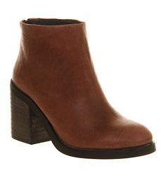 Tan Leather Ankle Boots See More Ahhh Tried These On Yesterday And Want Them So Bad Office Matchbox Back Zip