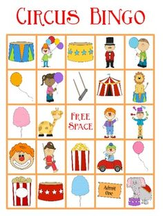 This Circus Bingo FREEBIE contains 5 Bingo Cards. It will go great with any circus themed unit. If you need more than 5 bingo cards I have a pack you can purchase with 25 bingo cards. Carnival Crafts, Carnival Themes, Circus Theme Crafts, Bingo, Preschool Lessons, Preschool Activities, Circus Crafts Preschool, Circus Theme Classroom, Preschool Summer Camp