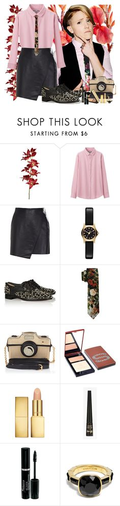 """""""Hannah Hart."""" by juls ❤ liked on Polyvore featuring Pier 1 Imports, Uniqlo, Helmut Lang, Marc by Marc Jacobs, Christian Louboutin, Vivienne Westwood, Accessorize, Sisley, AERIN and Barry M"""