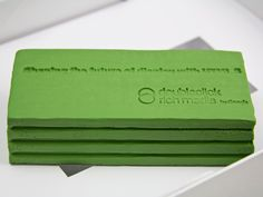 For a creative audience, we supplied a creative tool: an imprinted block of clay carrying a key message.