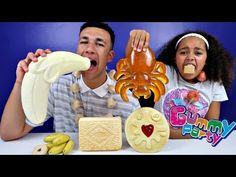 Real Food VS Gummy Food! Gross Giant Candy Challenge - Best Chef Edition Tiana VS Jordon - YouTube