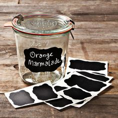 Keep track of your canned goods with these fun, reusable chalkboard labels.