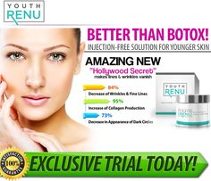 Get A Younger Looking Skin by Claiming Your Risk Free Trial Offer of Neo Hydrate Gold and New Age Anti-Wrinkle Cream Combo Here Today! Younger Skin, Younger Looking Skin, Skin Care Cream, Skin Cream, Anti Aging Cream, Anti Aging Skin Care, Botox Alternative, 1, Anti Wrinkle