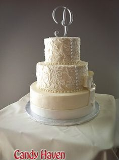 I love the idea of the wedding dress as the inspiration for the cake!! I saw this on a cake reality show once.