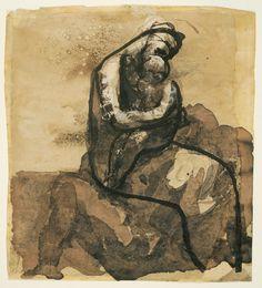 Maternité - Dessin d'Auguste Rodin 1880