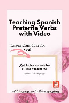 Introduce your students to the preterite with this CI video of mostly regular verbs. Spanish Grammar, Teaching Spanish, Preterite Spanish, How To Introduce Yourself, Teaching Ideas, Real Life, Youtube, Students, Language
