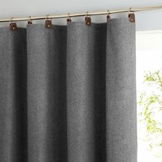 Nelson wool mix curtain with leather tabs Am.Pm. | La Redoute