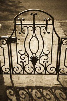 Courtyard Gate http://www.superiorornamentalsupply.com/custom-forging-steel/custom-3.html